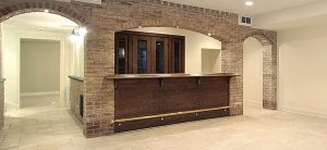 A wet or dry bar in the basement is a popular basement renovation idea especially for those who enjoy entertaining.