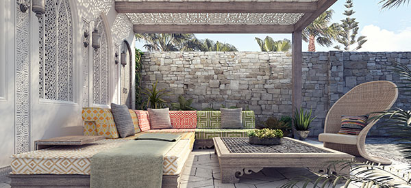 A patio by the pool can be an awesome outdoor space where you can entertain or spend a relaxing afternoon or evening.