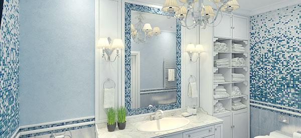 Install a bathroom chandelier in your Ottawa bathroom.