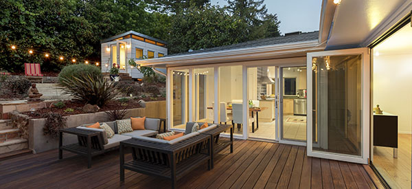 A backyard porch is a terrific place to sit and relax or entertain during the warmer months