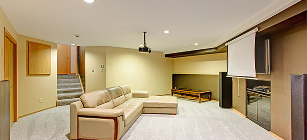 A home theater or music room is a great way to enjoy the basement with a basement renovation.