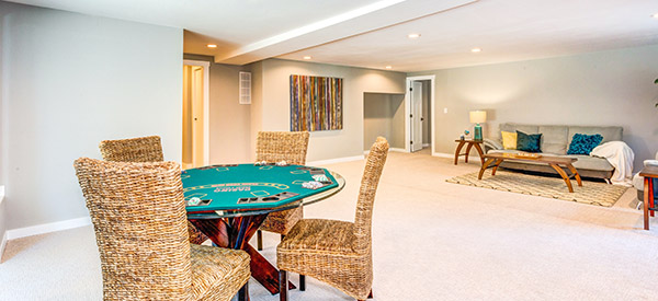 You can create a sleek, modern, or cozy room in the basement where you can have relaxed and peaceful evenings.