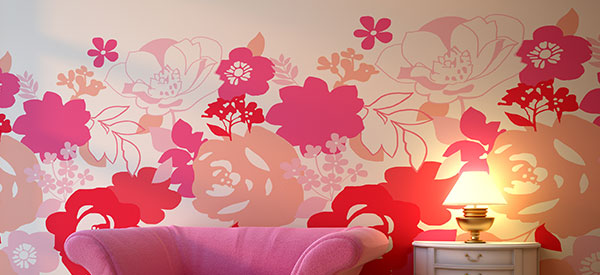 Combine paint and wallpaper for decorating your walls to add drama and style to your home interior.