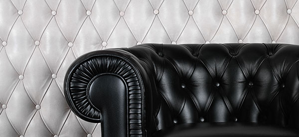 Leather wall coverings provide elegance and style to any room in the house