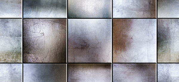 Metallic tiles make bathrooms, basements, and living rooms look larger and provide a unique appeal that is truly modern.
