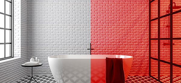 Tiles can be used on flooring, countertop, backsplash, and feature walls of a kitchen renovation.