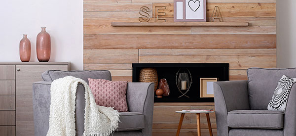 Dress up your walls with interior wall wood panels for an elegant look.