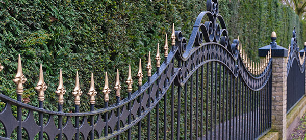 Wrought-iron or ornamental fences are classical in style and visually appealing.