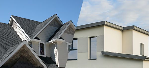 Consider the pros and cons of a flat or pitched roof for your home construction or renovation.