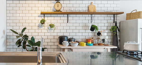 Open shelving is a big hit in 2019 and will continue to be a trend in budget kitchen renovations