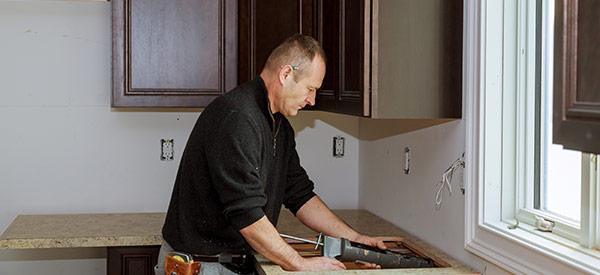 Choose a good kitchen countertop specialist specializing in marble, granite, laminate, or butcher block countertops.