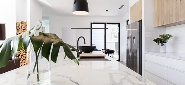 Marble countertops look luxurious and elegant but are more expensive than other types of materials.