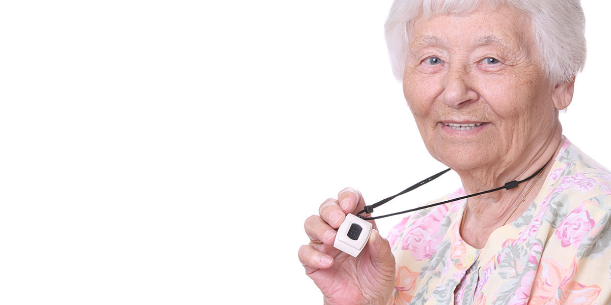 Panic buttons with fall detection provide personal safety measures to the elderly.