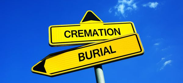 Cremation vs. traditional burial in Canada.
