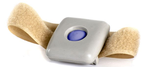 Medical alert systems with wearable panic buttons.